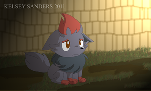 My Sad Zorua by KelseyEdward