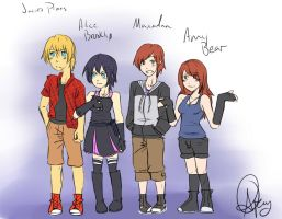 Alice, Jake, Max, and Amy by pandapunk143