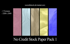 No Credit Stock Paper Pack 1 by chadtalbot