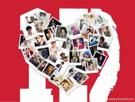 1D Heart Collage Wallpaper by iluvlouis