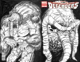 Man-Thing Sketch Cover by ElfSong-Mat