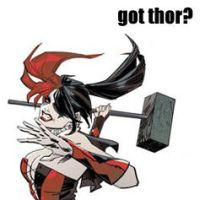 got thor? HARLEY QUINN by LOSTgnosis