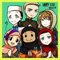 Happy Eid 1433 H by honeyf