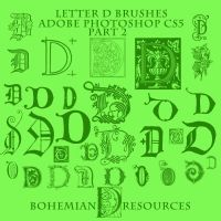 Letter D Brushes Part 2 by BohemianResources