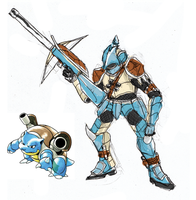 Pokemonster Hunter Blastoise by tRickityhouses