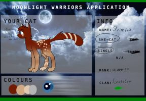 Stripetail application for moonlight warriors  OLD by Quinty-Imara