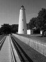 Ocracoke Light Black and White by Vicious-Pink