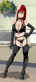 Sexy Leather Erza by Ed-Jim