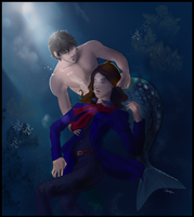 Hannibal mermaid AU - Save the princess by FuriarossaAndMimma
