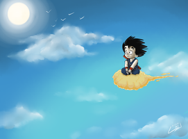 Goku in tha SKYY by wtfisalinh