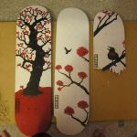 Cherry Blossoms tryptych by gowsk
