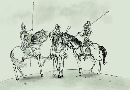 Hellenic cavalry by TheNicator
