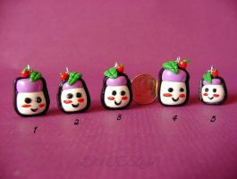 Fimo_Sushi charms by LadyxWinter