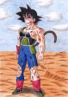 After the fight -Bardock- by Yugoku-chan