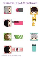 [Printables] B.A.P Bookmarks by mellie-berry