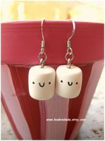 Mini Marshmallow Earrings I by sunnyxshine