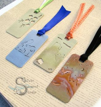 Shorty Metal Bookmarks by PurlyZig
