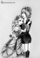 Kisaki and Hizaki by Develv