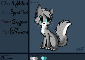 Skypaw .:Ref for the forest clans:. by MintyGumball