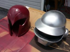 Progress on Magneto and Daft Punk replica helmets by JohnsonArms