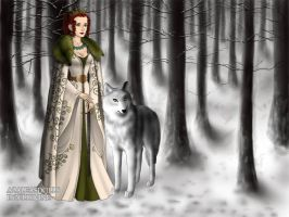Ayame is the Queen of White Wolfs by Sakurafangurl2009