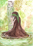 The Lady of the Forest Waters by SamTheDragonGirl