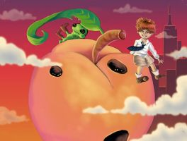 James and the Giant Peach by MissAisling
