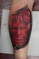 hellboy tattoo by graynd