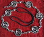 Coiled Snake Necklace inspired by Jormungandr by MoonRouge