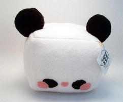 Panda Sugar Cube Plush Medium by quacked