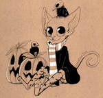 Jack-o-lanterns and Skull Crows by Rodent-blood