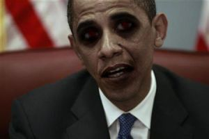 Obama Zombie by Hatsumeiko