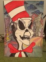 Finished twisted cat in the hat by missoutcast