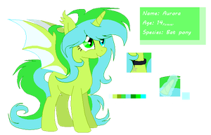 Aurora (ponysona and main character) by Vert-Bleu