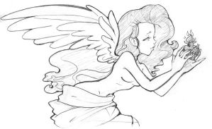 Sketch: Protect my sacred heart by attitudechick