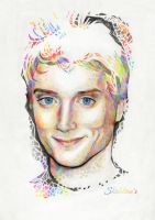 Elijah Wood and colored pencils by Shishkina