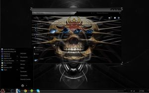 Tema SkullBlack Windows 7 By FASCA123 by FASsCA123