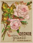 Victorian Advertising - Decker Bros. Pianos - NYC by Yesterdays-Paper