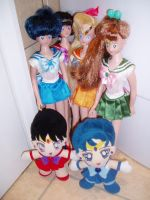 Sailor Moon Plushes and Dolls by ICannotDrawToSaveMe