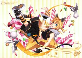 Kagamine Len 7th birthday by Ragnarok026