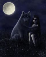Girl and Wolf by Joya-Filomena