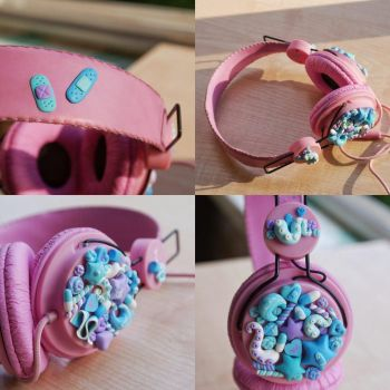 Decorated headphones [collage] by Octopushh