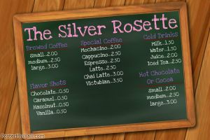 The Silver Rosette- Menu (VICTUBIA) by LeopardSixteen