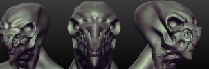 Sculptris - Alien head by Kurunya