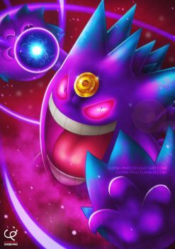 LET'S PUT A SMILE ON THAT FACE!!! MEGA GENGAR!!! by CHOBI-PHO