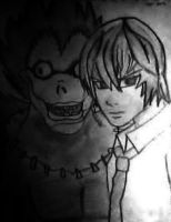 Death Note - Ryuk and Light by NatsukoUchiha