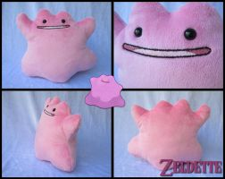 Ditto Plush - Pokemon by Miss-Zeldette