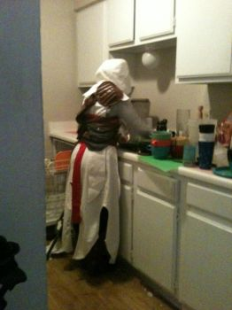 Altair... DOING THE DISHES!? by anime4me00