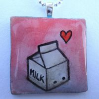 Milk Carton Pendant by cellsdividing
