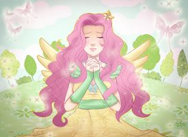 Fluttershy - human version by Solceress